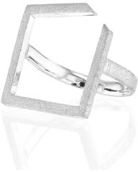 Ilda Design - Silver Ring With Square Top - Lyst