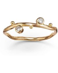 Bergsoe - Gold & Two-diamond Seafire Ring | - Lyst
