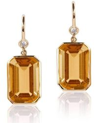 Goshwara - Gossip Citrine Emerald Cut Earrings - Lyst
