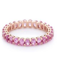 VOA Fine Jewellery - Signature Emerald Pink Eternity Ring - Lyst