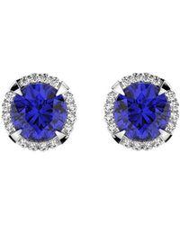 MARCELLO RICCIO - 18kt Gold, Diamond & Sapphire Earrings - Lyst