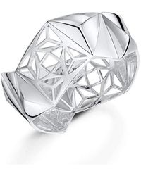 ROX - Diamonds and Thrills - Rox Dna Silver Bangle - Lyst