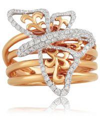Jooal - Flight Of Fancy Ring In Rose Gold And Diamonds - Lyst