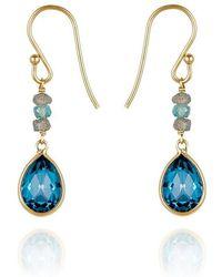 Perle de Lune - Precious Drop Earrings 18kt Gold - Lyst