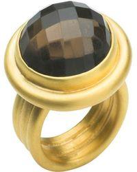 Naomi Tracz Jewellery - Smoky Quartz Ring - Gold Vermeil - Lyst