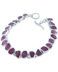 Reeves and Reeves - Rough Stone Ruby Bracelet - Lyst
