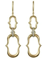 Anahita Jewelry - 18kt Yellow Gold Double Anah Motif Earrings - Lyst
