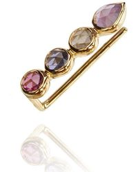 Perle de Lune - Ear Cuff 18kt Gold Purple Pink Gemstones - Lyst