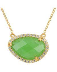 LÁTELITA London - Sofia Green Onyx Gemstone Necklace Gold - Lyst