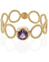 Christina Soubli - Tattoo Round Ring With Amethyst - Lyst
