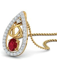 Diamoire Jewels - Oval Cut African Ruby And Diamonds Hand-set In 18kt Yellow Gold - Lyst