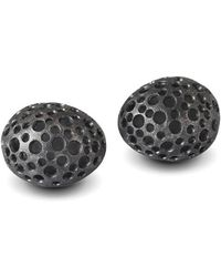 Agneta Bugyte - Pierced Matt Black Patinated Studs - Lyst
