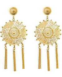 Vanilo - Pandora Earrings Gold - Lyst