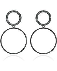 Carao Jewelry - Sterling Silver Duet Dangle Earrings - Lyst