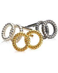 VERA VEGA - Silver Circle Earrings - Lyst