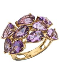 Emily Mortimer Jewellery - Aqua Amethyst Cocktail Ring - Lyst