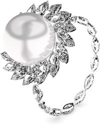 MARCELLO RICCIO - White Gold, Diamond & Pearl Ring - Lyst