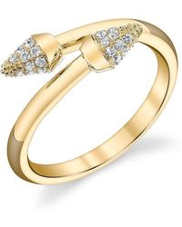 Borgioni - Stackable Spike Band In Yellow Gold - Lyst
