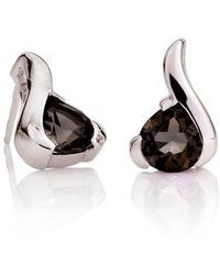 MANJA Jewellery - Sensual Smoky Quartz Earrings - Lyst