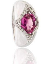 Soligems - Pink Sapphire Signet Ring - Lyst