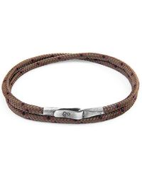 Anchor & Crew - Brown Liverpool Silver And Rope Bracelet - Lyst