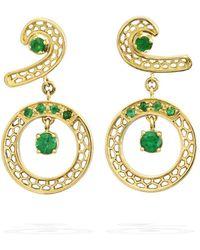 Rosmundo - Le Finestre Earrings In Yellow Gold - Lyst