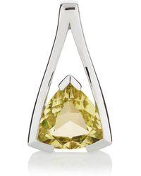 MANJA Jewellery - Valentine Lemon Quartz Pendant - Lyst