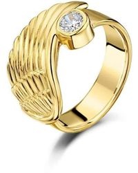Becky Rowe - Yellow Gold Angel Wing Ring - Lyst