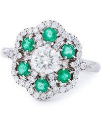 Katherine LeGrand Custom Goldsmith - Medium Colour Lace Ring - Lyst
