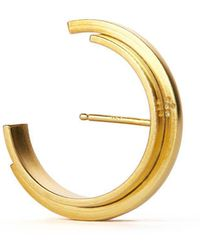aka jewellery - Gold Plated Silver Concord Constructive Lobe Earrings - Lyst