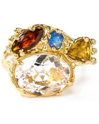 LaParra Jewels 18kt White Gold Multicolor Ring With Mixed Gemstones - Metallic