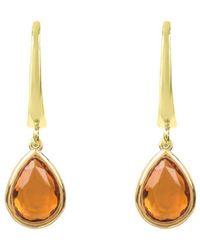 Latelita London Pisa Mini Teardrop Earrings Gold Aqua Chalcedony qb2w1tP