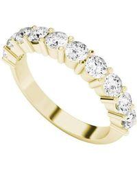 StyleRocks - Diamond Eternity Ring 9kt Yellow Gold - Lyst