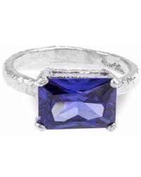 Paul Magen - Sterling Silver & Blue Zirconia Silex Ring   - Lyst