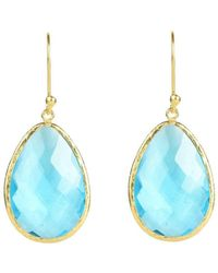 LÁTELITA London - Gold Single Drop Earring Blue Topaz - Lyst