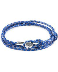 Anchor & Crew - Royal Blue Dundee Silver And Leather Bracelet - Lyst