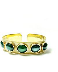 Beryl Dingemans Jewellery - Green Agate Cuff - Lyst