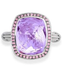 Peter Thomas Roth Fine Jewelry - Fantasies Amethyst-pink Sapphire Halo Ring - Lyst