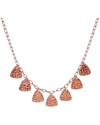 Murkani Jewellery - Necklace In Rose Gold Plate - Lyst