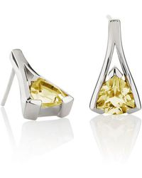 MANJA Jewellery - Valentine Lemon Quartz Earrings - Lyst