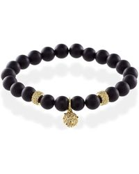 MARCOS DE ANDRADE   Spike Onyx Bracelet With 18kt Gold   Lyst