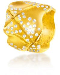 Hazel NY - Norse Princess Ring Yellow Gold - Lyst