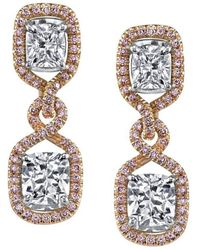 Harry Kotlar - Pretty In Pink Arabesque Kotlar Cushion Drop Earrings - Lyst