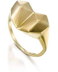 YAMA JEWELRY - Diamond Heart Ring - Lyst