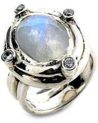 Will Bishop - Moonstone Ring With Side Stones - Lyst