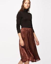 Jigsaw - Pleated Iridescent Midi Skirt - Lyst