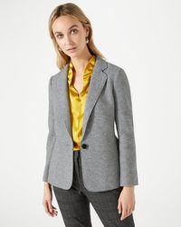 Jigsaw - Double Knit Raw Edge Jacket - Lyst