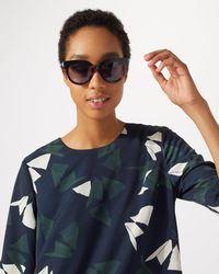 Jigsaw - Ivy Cat Eye Sunglasses - Lyst