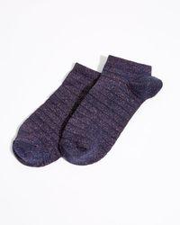Jigsaw | Iris Lurex Stripe Trainer Socks | Lyst