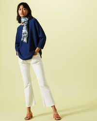 Jigsaw - Double Faced Scooped Jumper - Lyst